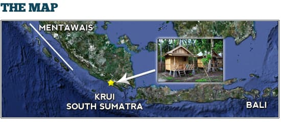 surf map and surf spot atlas of krui south sumatra