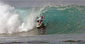 surf Waves in Krui in krui south sumatra